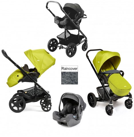 Joie Chrome Plus Black Frame I-Gemm Travel System (With Colour Pack) - Green