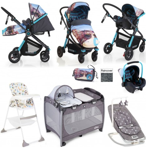 Cosatto/Koochi/Joie Litestar Everything You Need Travel System Bundle - San Fran..