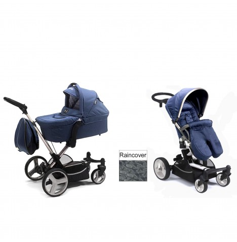 Mee-go Inspire 2 In 1 Pram Pushchair - Blue Denim