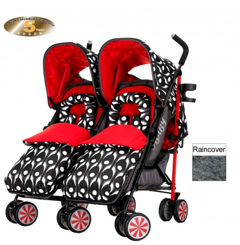 Obaby Leto Plus Twin Stroller - Eclipse