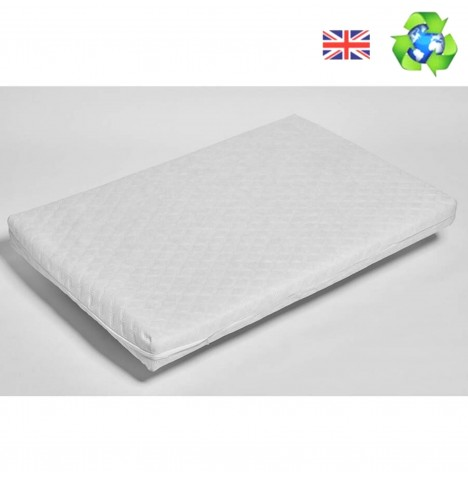 4baby Chicco Next 2 Me Crib Hypoallergenic Deluxe Foam Quilted Mattress 83 x 50 x 5cm