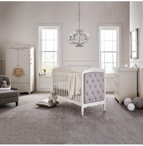 Mee-Go Epernay 5 Piece Nursery Room Set With Deluxe 5inch Sprung Mattress - Ivory White