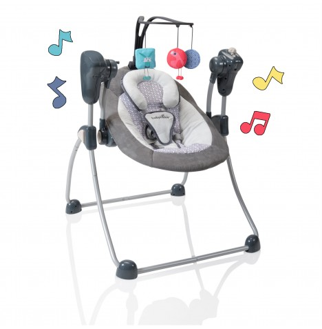 Babymoov Swoon Bubble Baby Swing - Zinc