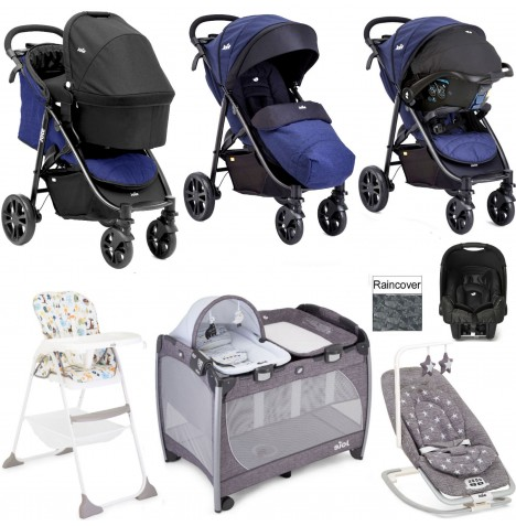 Joie Litetrax 4 Everything You Need Gemm Travel System (With Carrycot) Bundle - Eclipse