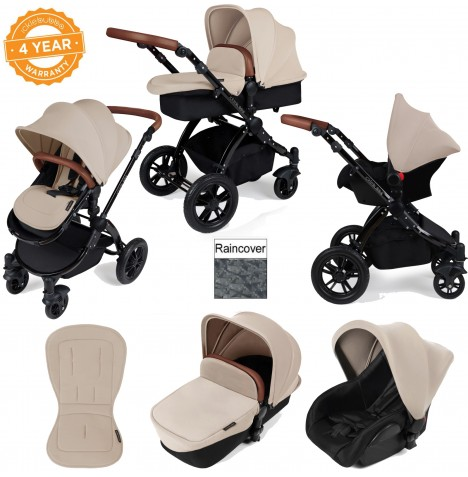 ickle bubba Stomp V2 Black 3 in 1 Travel System - Sand