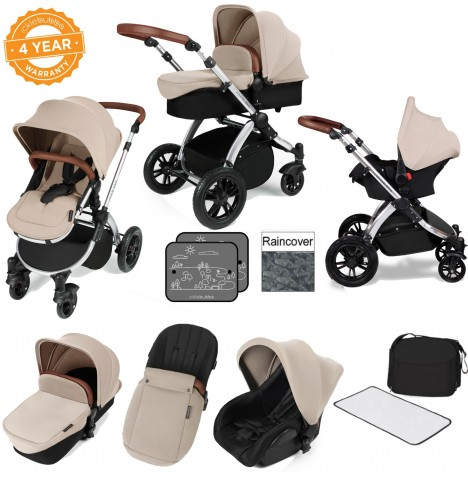 ickle bubba Stomp V2 Silver All In One Travel System - Sand