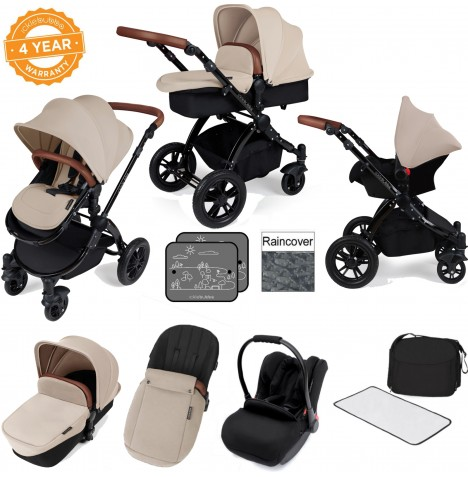 Ickle bubba Stomp V3 Black All In One Travel System - Sand