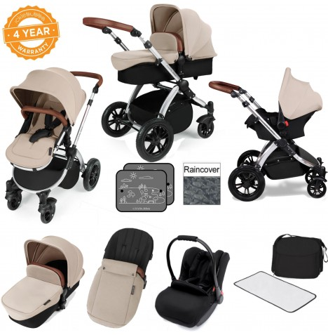 Ickle bubba Stomp V3 Silver All In One Travel System - Sand