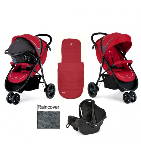 Joie Litetrax 3 Wheel Travel System - Apple