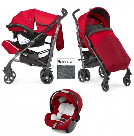 Chicco LiteWay Plus Travel System - Red