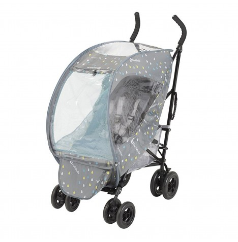 Badabulle Universal Pop-Up Pushchair Raincover - Grey