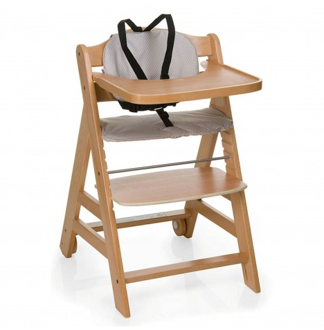 hauck natural beige beta grow with your child wooden high chair seat cover ebay. Black Bedroom Furniture Sets. Home Design Ideas
