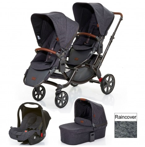 ABC Design Zoom Tandem Travel System (With Carrycot) - Street