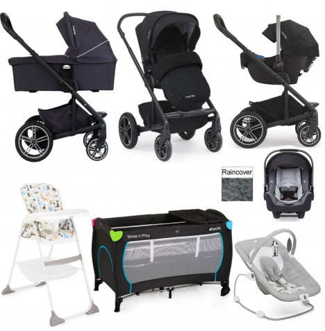 Nuna/Joie Mixx Everything You Need Travel System Bundle - Jett