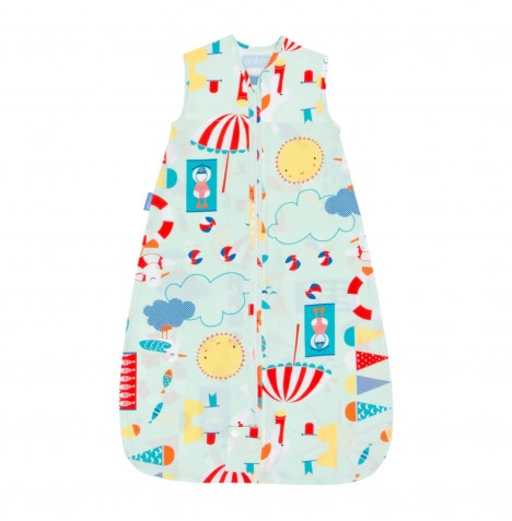 The Gro Company 6-18 Months 0.5 Tog Travel Grobag / Sleeping Bag - Beside The Sea