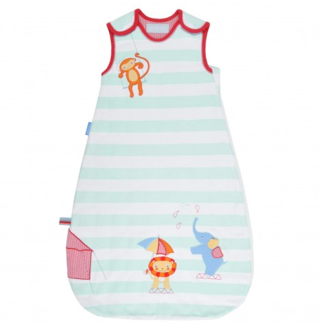 The Gro Company 0-6 Months 1 Tog Grobag / Sleeping Bag - Sleepy Circus