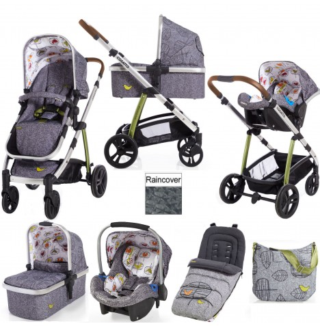 Cosatto Wow 3 in 1 Combi Travel System With Accessories - Dawn Chorus