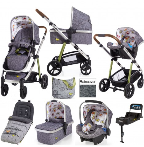 Cosatto Wow 3 in 1 Combi Travel System With Accessories & Isofix Base - Dawn Chorus