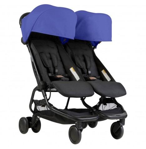 Mountain Buggy Nano Duo Twin Pushchair Stroller - Nautical