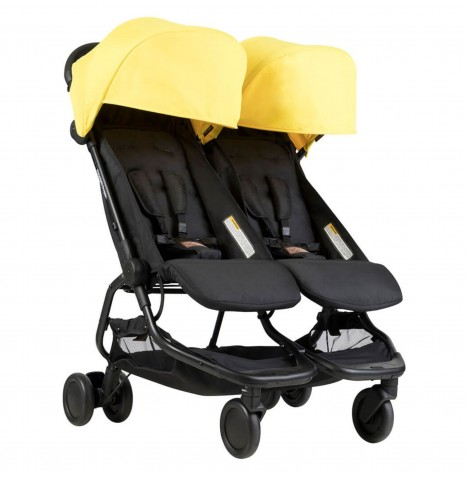 Mountain Buggy Nano Duo Twin Pushchair Stroller - Cyber