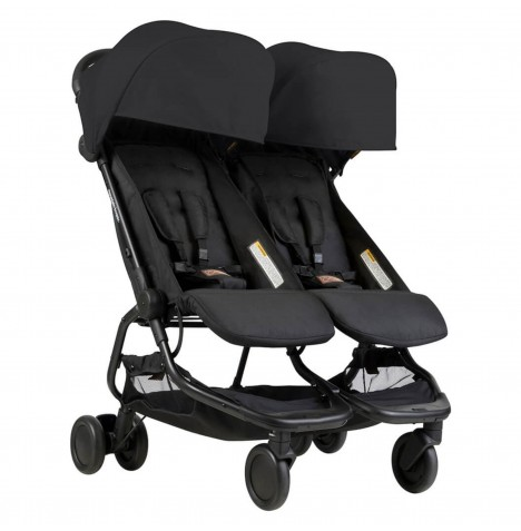 Mountain Buggy Nano Duo Twin Pushchair Stroller - Black