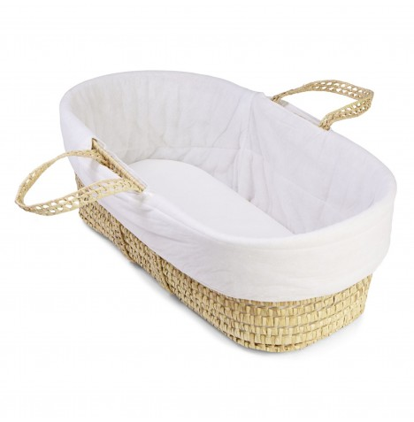 4baby Moses Basket Replacement Cover - White