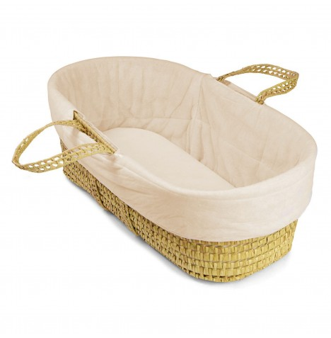 4baby Moses Basket Replacement Cover - Cream