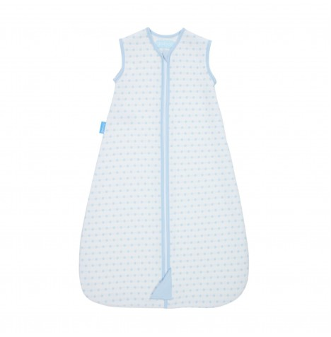 The Gro Company 0-6 Months 2.5 Tog Jacquard Grobag / Sleeping Bag - Blue Squares