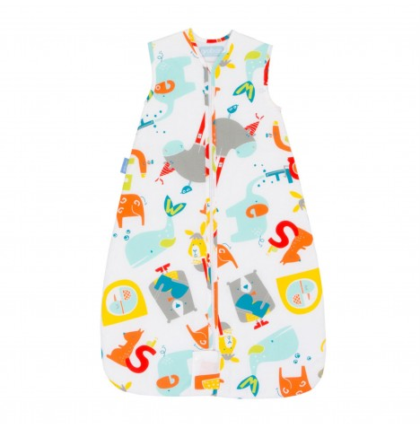 The Gro Company 3-6 Years 2.5 Tog Travel Grobag / Sleeping Bag - E Is For Elephant