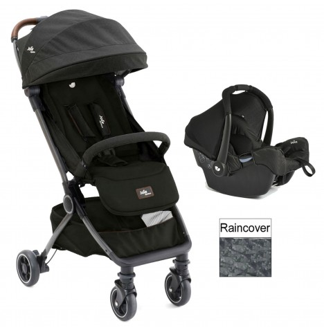 Joie Limited Edition Pact Flex (Gemm) Travel System - Signature Noir