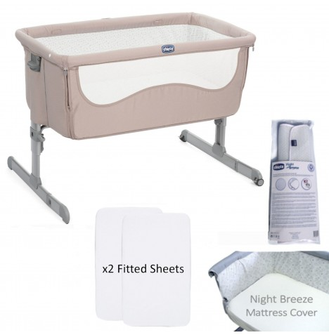 Chicco 4 Piece Next 2 Me Crib Bundle - Chick to Chick
