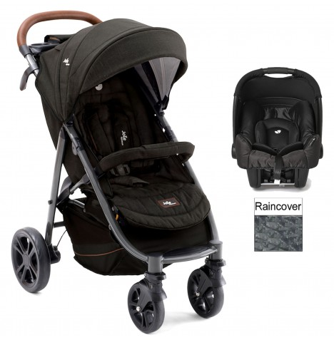 Joie Limited Edition Litetrax Flex 4 (Gemm) Travel System - Signature Noir