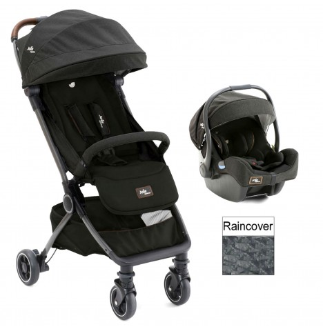 Joie Limited Edition Pact Flex (I-Gemm) Travel System - Signature Noir