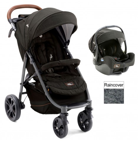 Joie Limited Edition Litetrax Flex 4 (I-Gemm) Travel System - Signature Noir