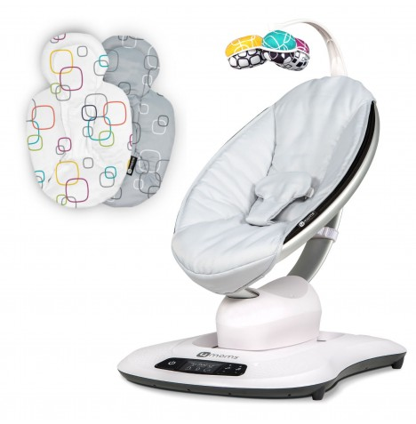 4moms mamaRoo 4.0 Rocker / Bouncer & Newborn Insert - Classic Grey