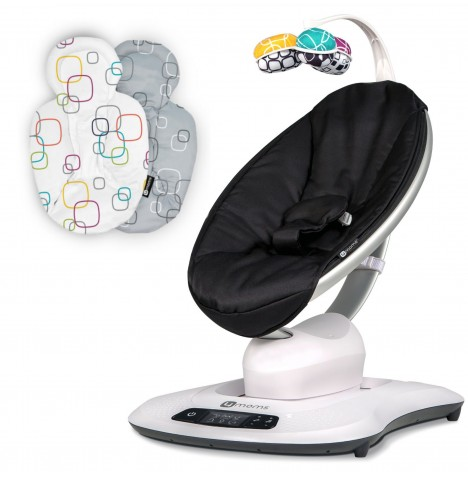 4moms mamaRoo 4.0 Rocker / Bouncer & Newborn Insert - Classic Black