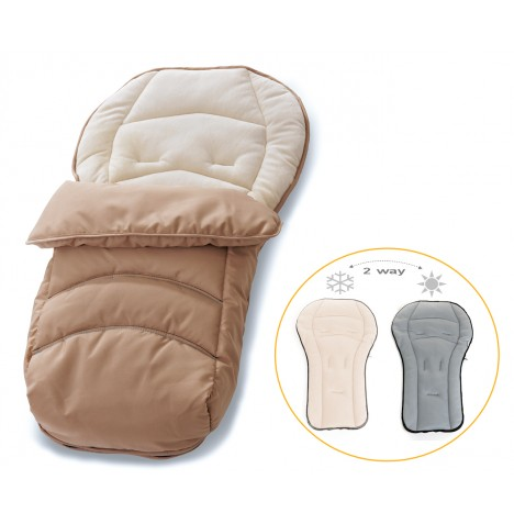 Hauck Cosytoe 2 Way Reversible Footmuff - Beige