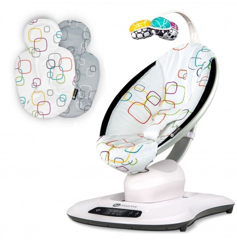 4moms mamaRoo 4.0 Rocker / Bouncer & Newborn Insert - Multi Plush
