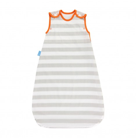 The Gro Company 6-18 Months 0.5 Tog Insect Shield Grobag / Sleeping Bag - Grey Stripe