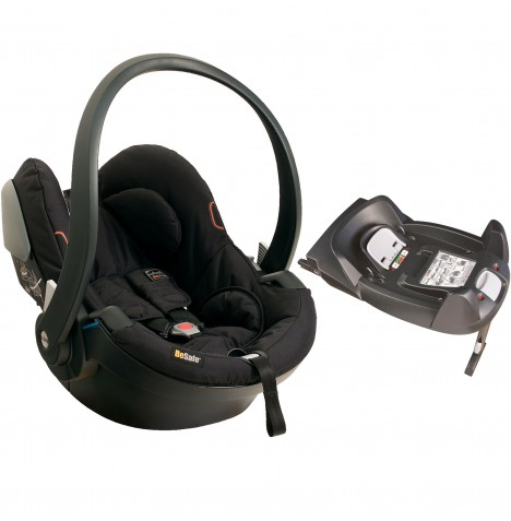 BeSafe iZi Go X1 Group 0+ Car Seat & Isofix Safety Base - Fresh Black Cab