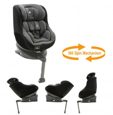 Joie Limited Edition Spin 360 Group 0+/1 Isofix Car Seat - Signature Noir..