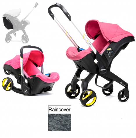 Doona Infant Car Seat / Stroller (Package 2) - Sweet Pink