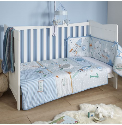 Clair De Lune Cot / Cot Bed Quilt & Bumper Set - Forty Winks