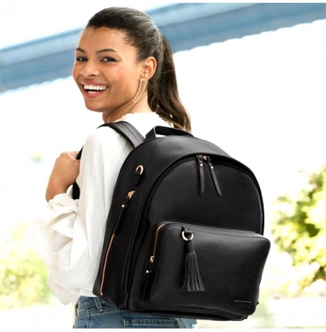 Skip Hop Greenwich Simply Chic Backpack Changing Bag - Black