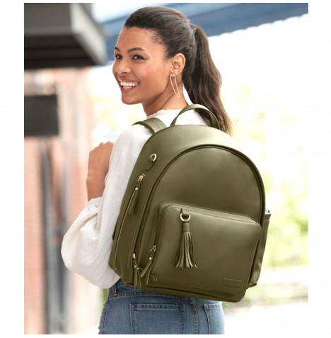 Skip Hop Greenwich Simply Chic Backpack Changing Bag - Olive