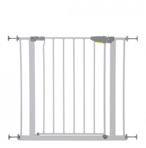 Hauck Squeeze Handle Metal Pressure Fix Safety Gate - White (75 - 81cm)