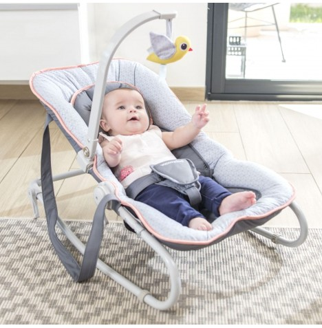 Babymoov Graphik Bouncer Chair - Peach