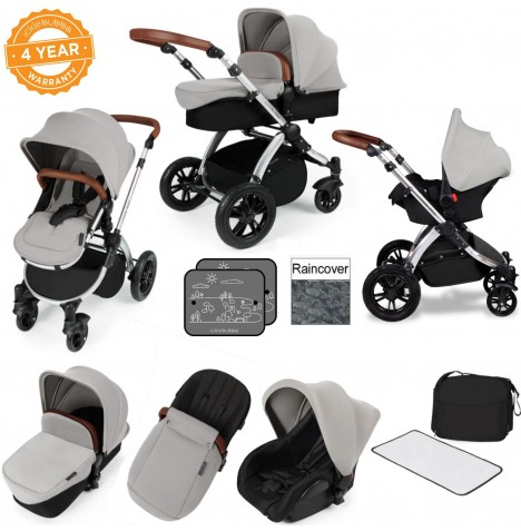 ickle bubba Stomp V2 Silver All In One Travel System - Silver