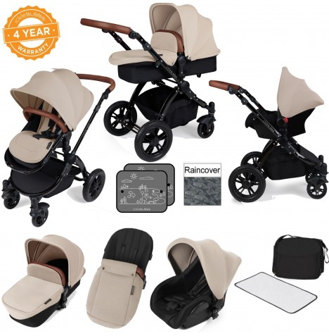ickle bubba Stomp V2 Black All In One Travel System - Sand