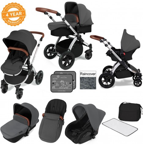 ickle bubba Stomp V2 Silver All In One Travel System - Graphite Grey